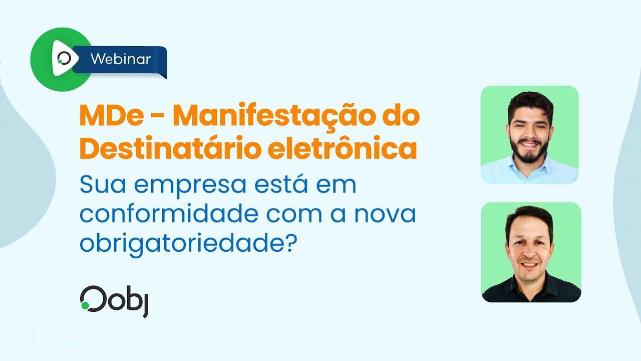 Webinar | MDe: Sua empresa está em conformidade com a nova obrigatoriedade?