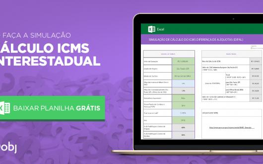 Planilha para Cálculo do ICMS Interestadual - DIFAL